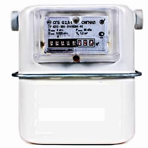 СГБ G2.5; G4 Сигнал счетчики газа бытовые