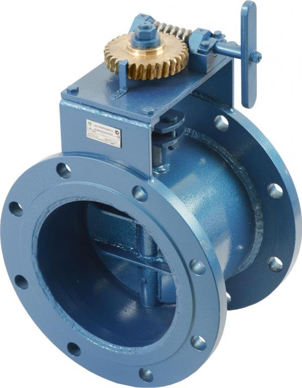 Заслонка дроссельная газовая с электроприводом для ГРП Ду 300